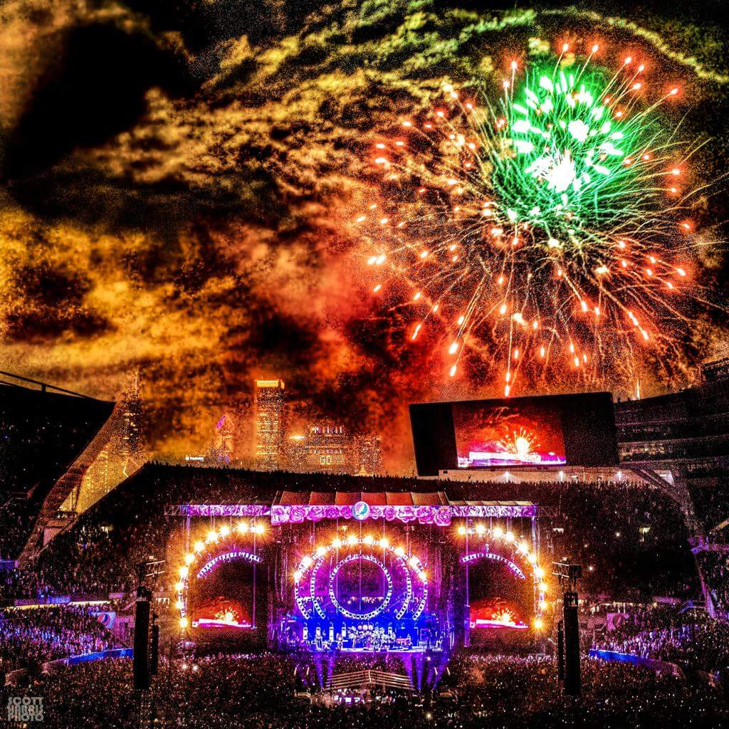 Fireworks Over Soldier Field by Scott Harris